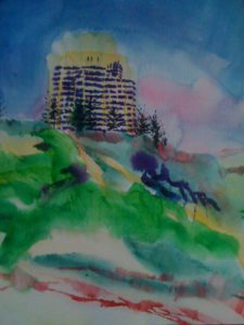 Rendez Vous Grand Hotel, Scarborough WA (watercolor - 40x50) Private Collection