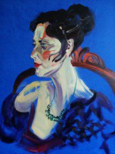 Van Dongen Lady 1 (Oil and acryllic on canvas - 70x90)
