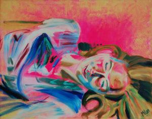 Sleeping Siren - portrait of (oil and acryllic on canvas - 70x50)