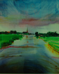 Canal De Does - Zuid-Holland (watercolor - 40x50)