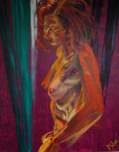 Exposure (Fleur 1) (oil and acryllic on canvas - 70x90)
