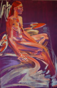 Muse fatale (Oil and acryllic on multiplex - 80x120)