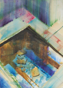 Holy source, Rocan, Les Ardennes France (watercolor - 40x50)