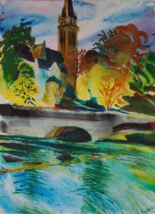 La Meuse, Charleville-Mézières (Watercolor - 50x40)