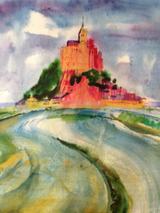 Le Mont St Michel (watercolor - 40x50)