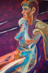Sphynx (oil and acryllic on canvas - 80x100)