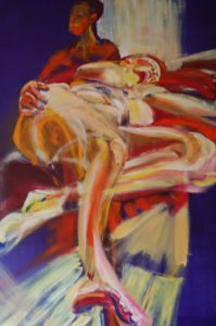 The Beauty and the Beast (oil and acryllic on multiplex - 70x90)