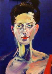 Van Dongen Lady 2 (oil and acryllic on canvast - 50x70)